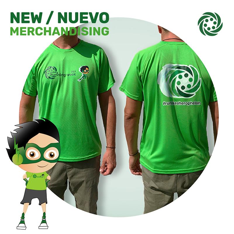 Camiseta run like a hero MUJER